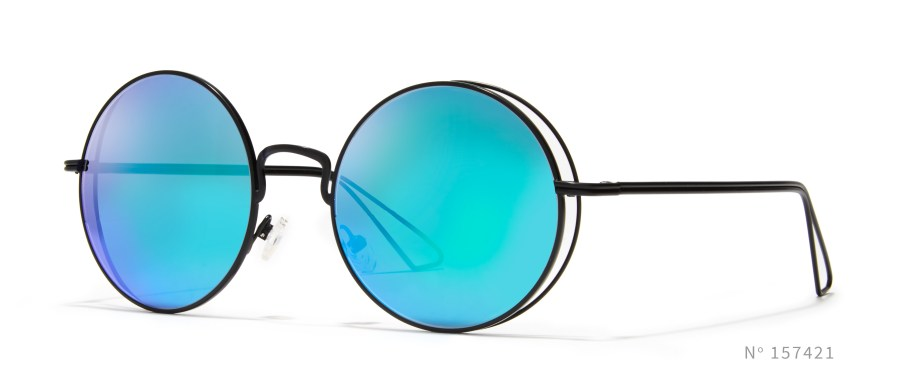 Round Wireframe Colored Sunglasses