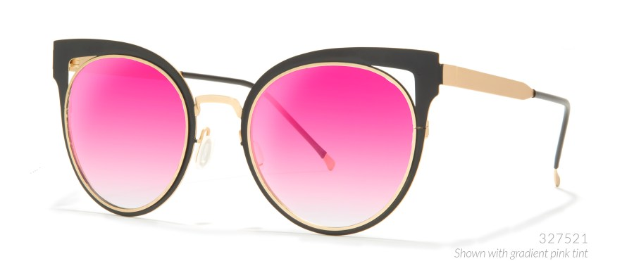 black and pink cat eye glasses