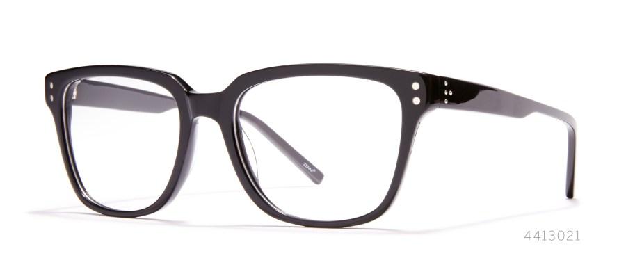 black statement glasses