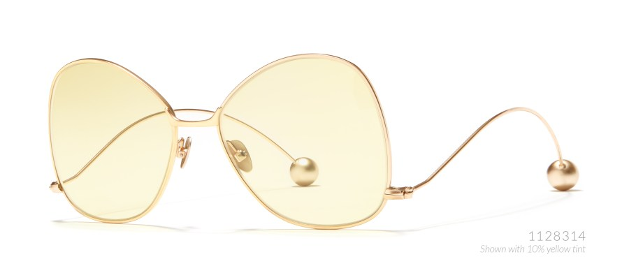 gold-tinted sunglasses