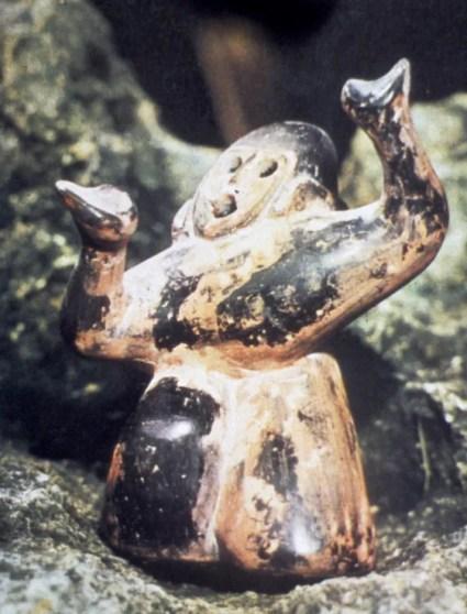 Danzatrice mascherata, tardo periodo Zhou