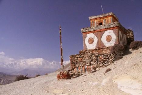 Paesaggio dell'altopiano del Tibet