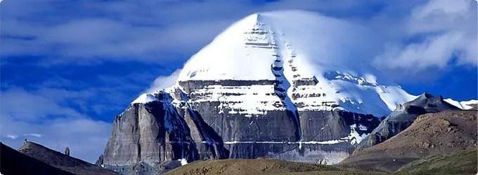 il m.te Kailash nella sua parte anteriore