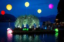 Green Willow Dome Floating Orta Lake