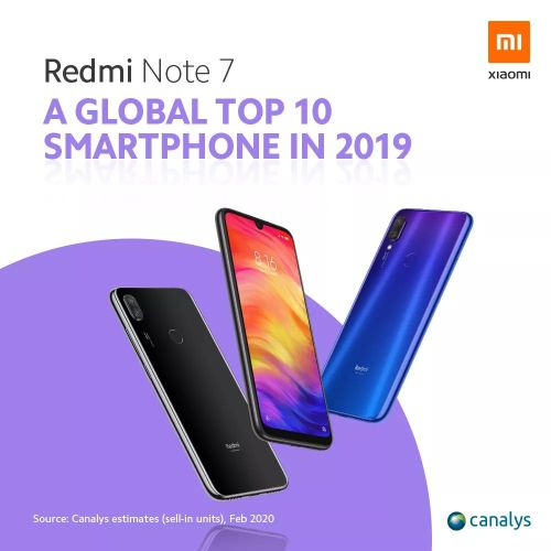 Redmi Note 7 e Redmi Note 8 si confermano  nuovamente best buy, secondo Canalys