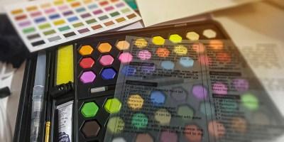 AGPTEK Set di Pittura ad Acquerello Solida da 48 Colori Acquerello Portatile