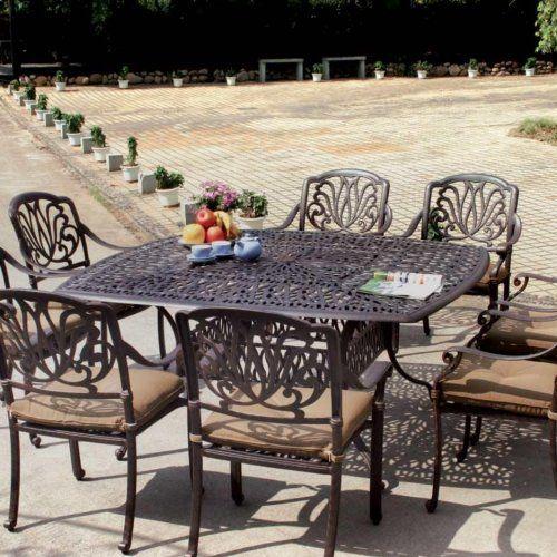 elisabeth cast aluminum patio dining set seats 8