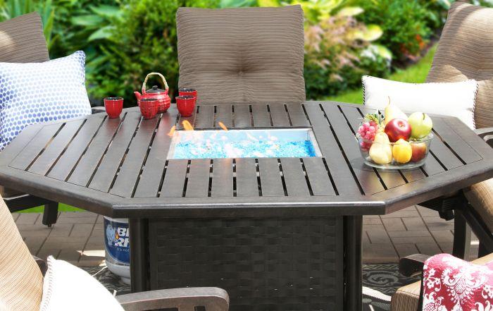 outdoor patio 71 octagonal dining firetable series 4000