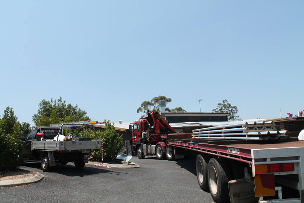 Roofing Materials Delivered