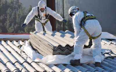 removing asbestos roof