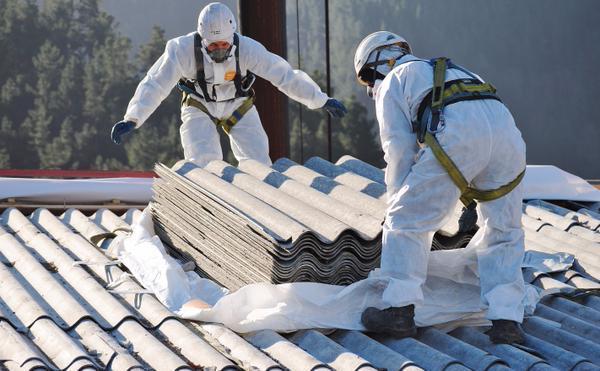 removing asbestos roof