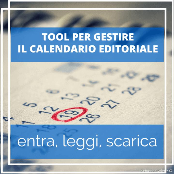 tool gestire calendario editoriale