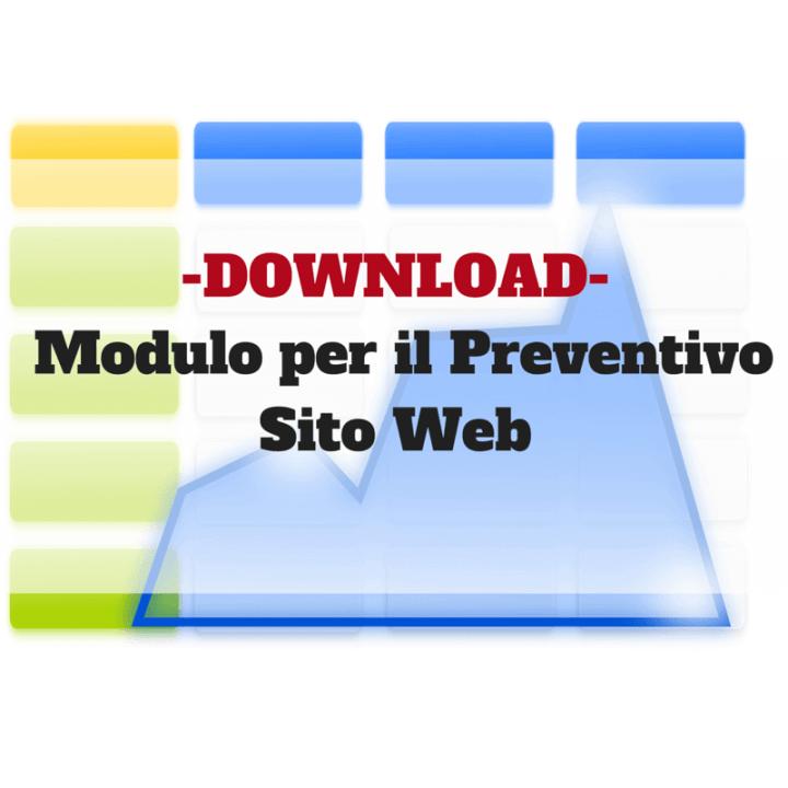 modulo per il preventivo sito web