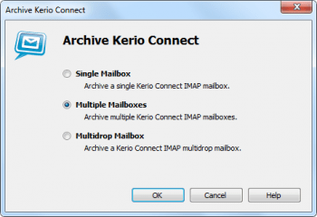 Kerio Archving in MailStore Server