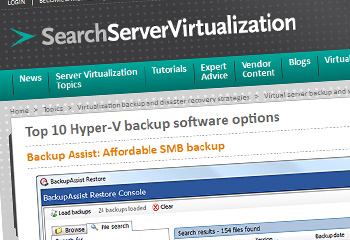 SearchServerVirtualisation screenshot