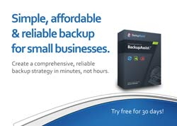 BackupAssist postcard - Simple, affordable, backup for SMB's