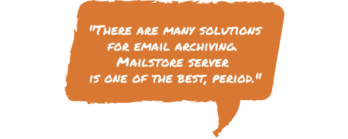 MailStore review quote