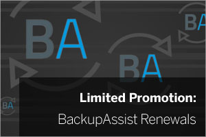 BackupAssist renewal promotion