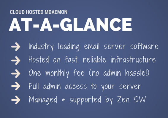 Cloud Hosted MDaemon at-a-glance