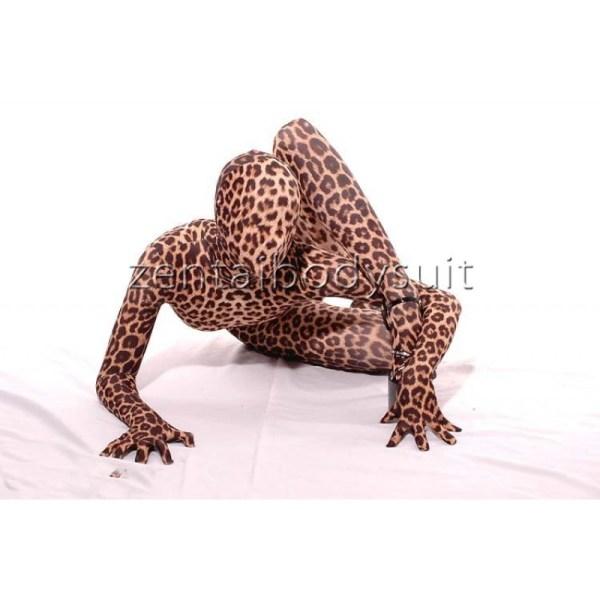 Leopard Lycra Zentai Fullbody Catsuit Sexy Suit