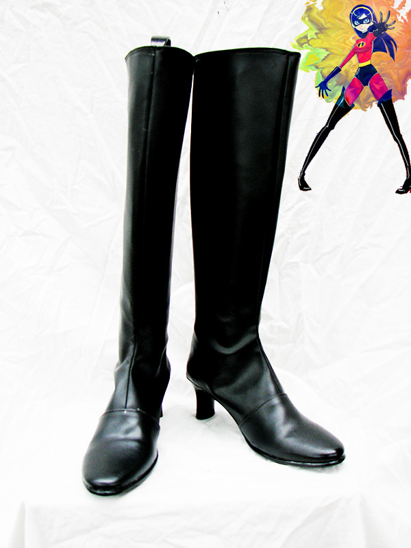 The Incredibles Black Female Superhero Cosplay Boots