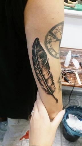 madár toll tattoo