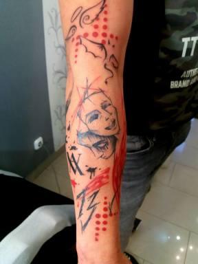 tras polka tetoválás
