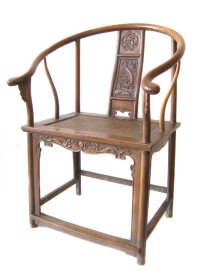 Pair of Chinese Antique Huanghuali Horseshoe Chairs