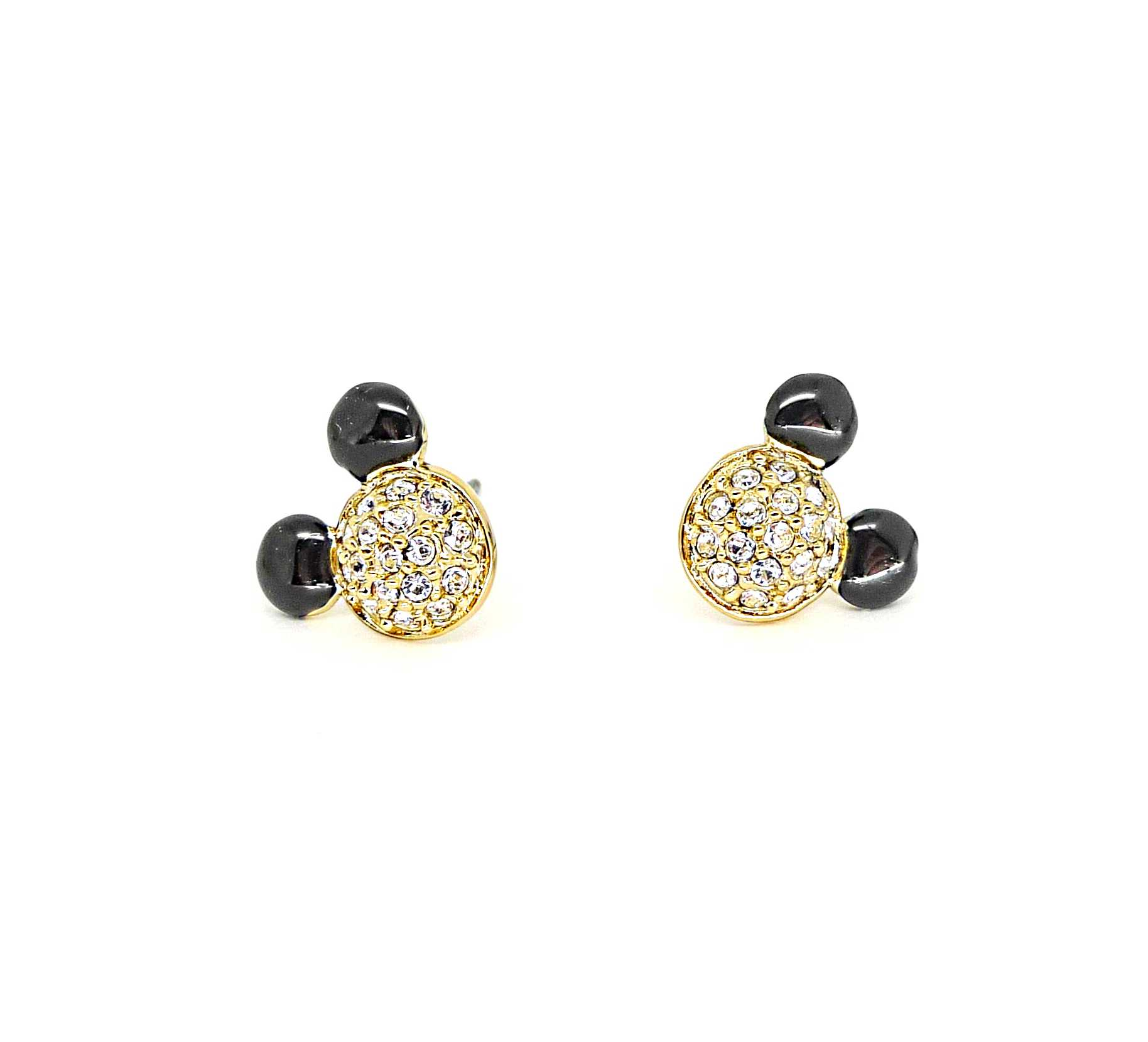 Disney Couture Minnie Mawi Gold Crystal Stud Earrings