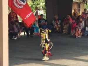 The Prairie Chicken Dance, a Familiar Site at a Powwow