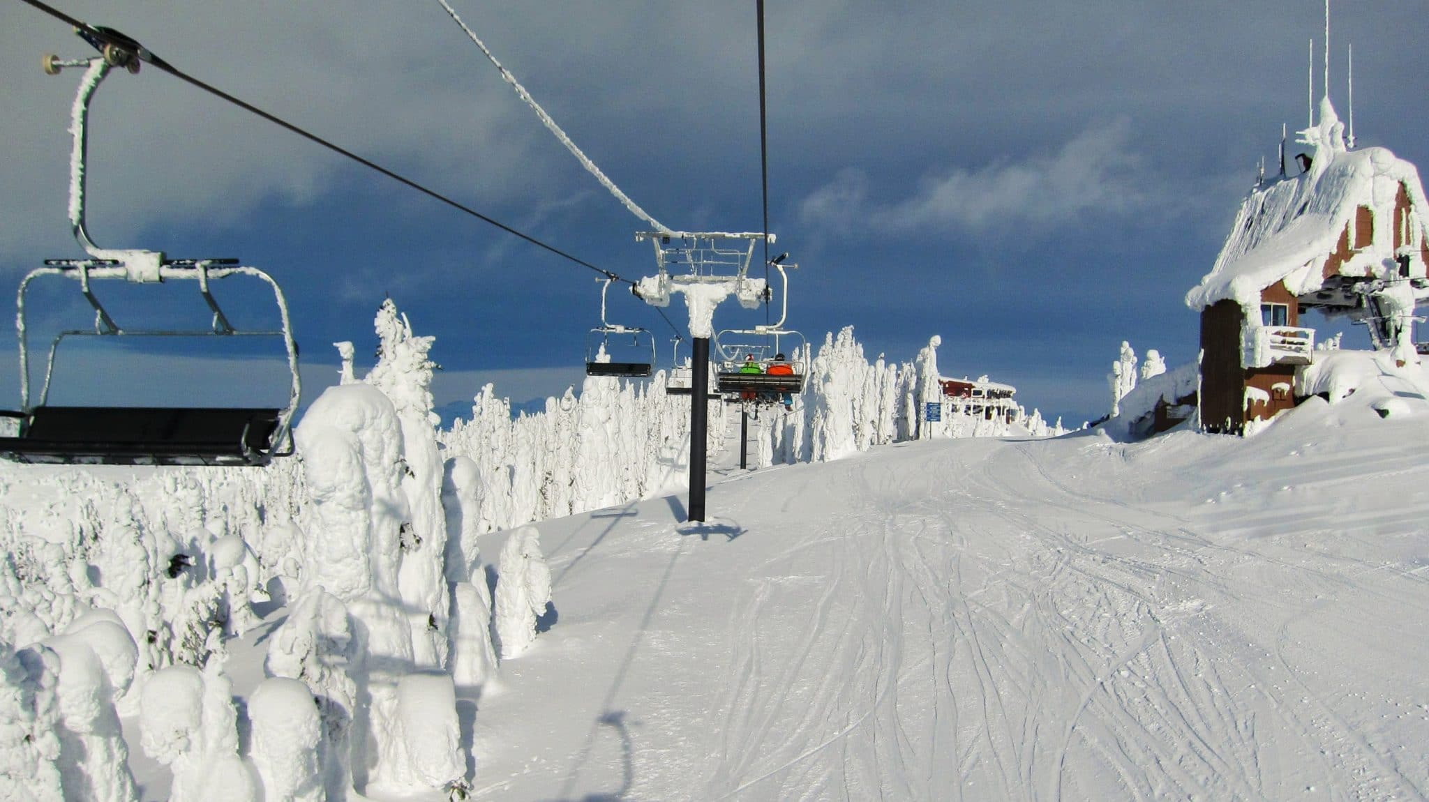 Heading Up The Chair At Whitefish, Snowghosts On The Left