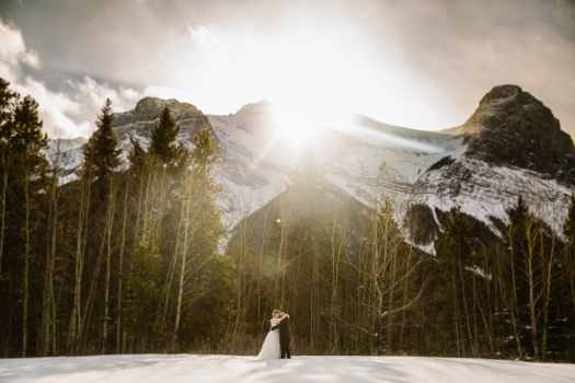 zentraveller's wedding photo in Canmore, AB