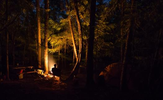 Sitting by a campfire. Taken with the Rokinon 12mm
