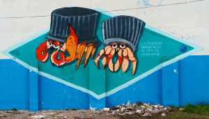 Street Mural about Plastic in the Galapagos Islands