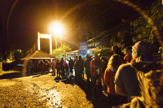 Lineup for the Macchu Picchu stairs at 5AM