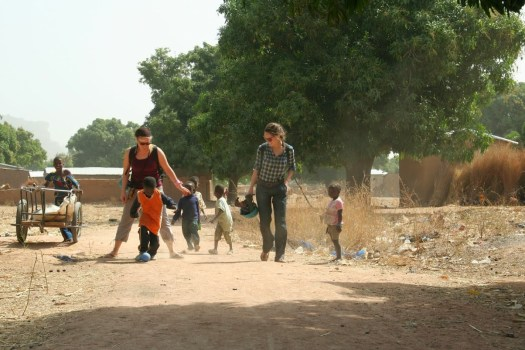 kids playing soccor in Mali