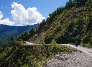 Bicycle Travel - the death road in bolivia