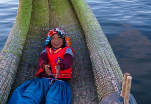 Child at the Reed Islands