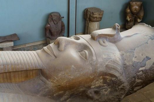 Ramses II Colossus in Memphis Egypt