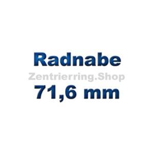 Radnabe 71,6 mm