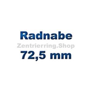 Radnabe 72,5 mm