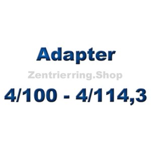 Adapterscheiben 4/100 - 4/114