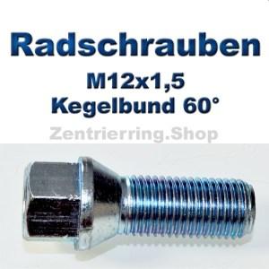 Radschrauben M12x1,5 mit Kegelbund 60°