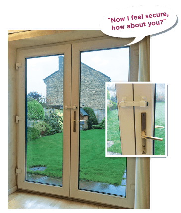 security for opening inward french door