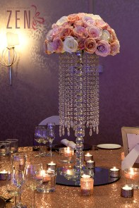 Flower Chandelier Table Centre