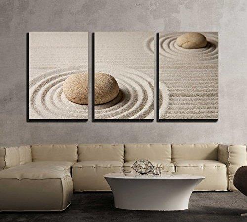 wall26 – 3 Piece Canvas Wall Art – Mini Zen Garden – Modern Home ...
