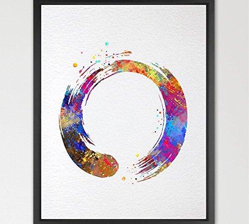 Dignovel Studios 8X10 Zen Circle Enso Symbol Buddhism Meditation ...