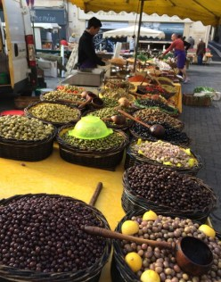 Olive vendor at the market