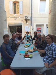 Dinner al fresco after the cooking class