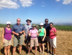 Oregon Wine Adventure Guests at the Top of Temperance Hill in 2014